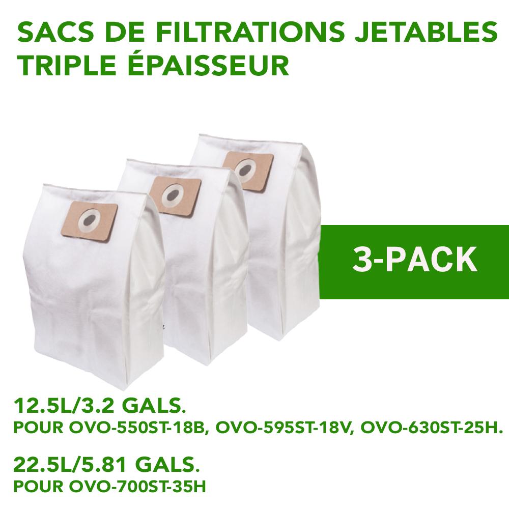 sacs de filtration jetales