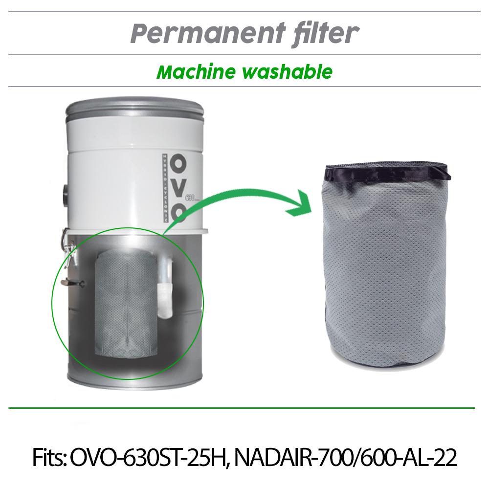 Central Vacuum Permanent Filter - 8L